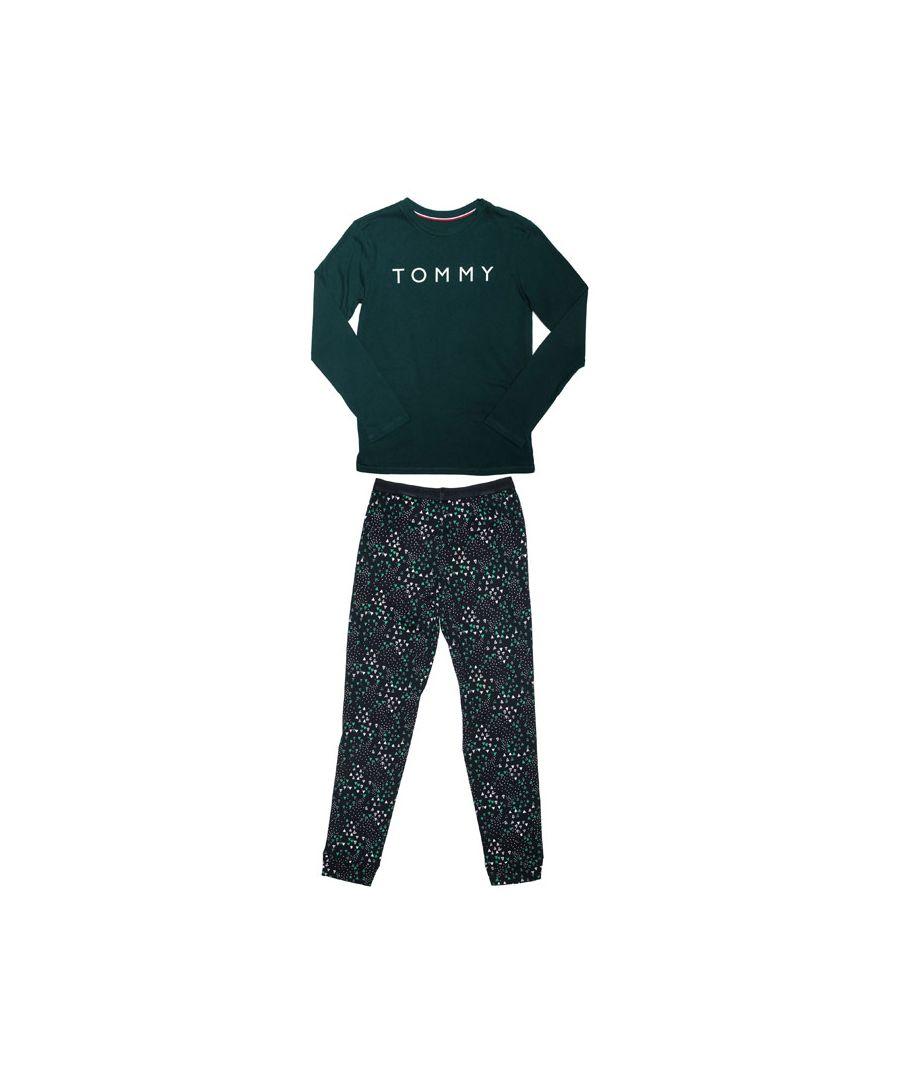 Image for Boys' Tommy Hilfiger Junior Glow Pyjamas Set in Green