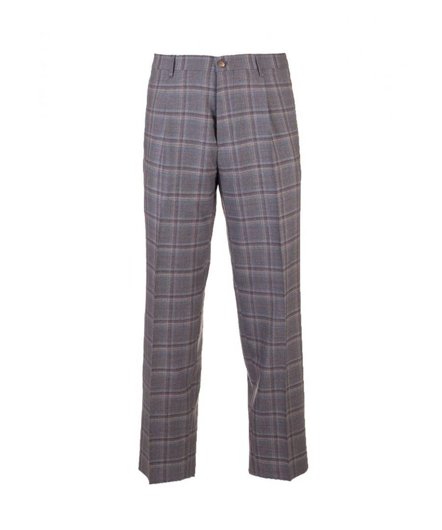 Image for ETRO MEN'S 1W65011600003 GREY WOOL PANTS