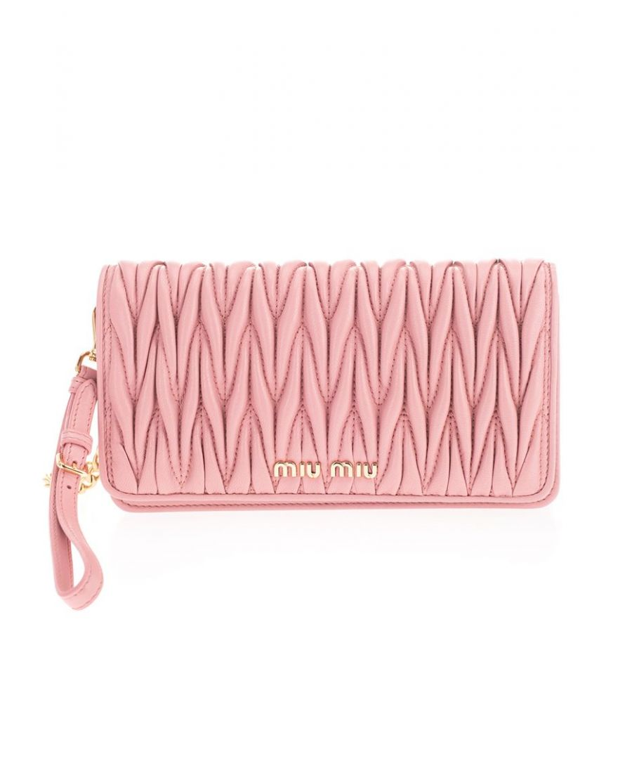 Image for MIU MIU WOMEN'S 5DH029N88F0028 PINK LEATHER POUCH