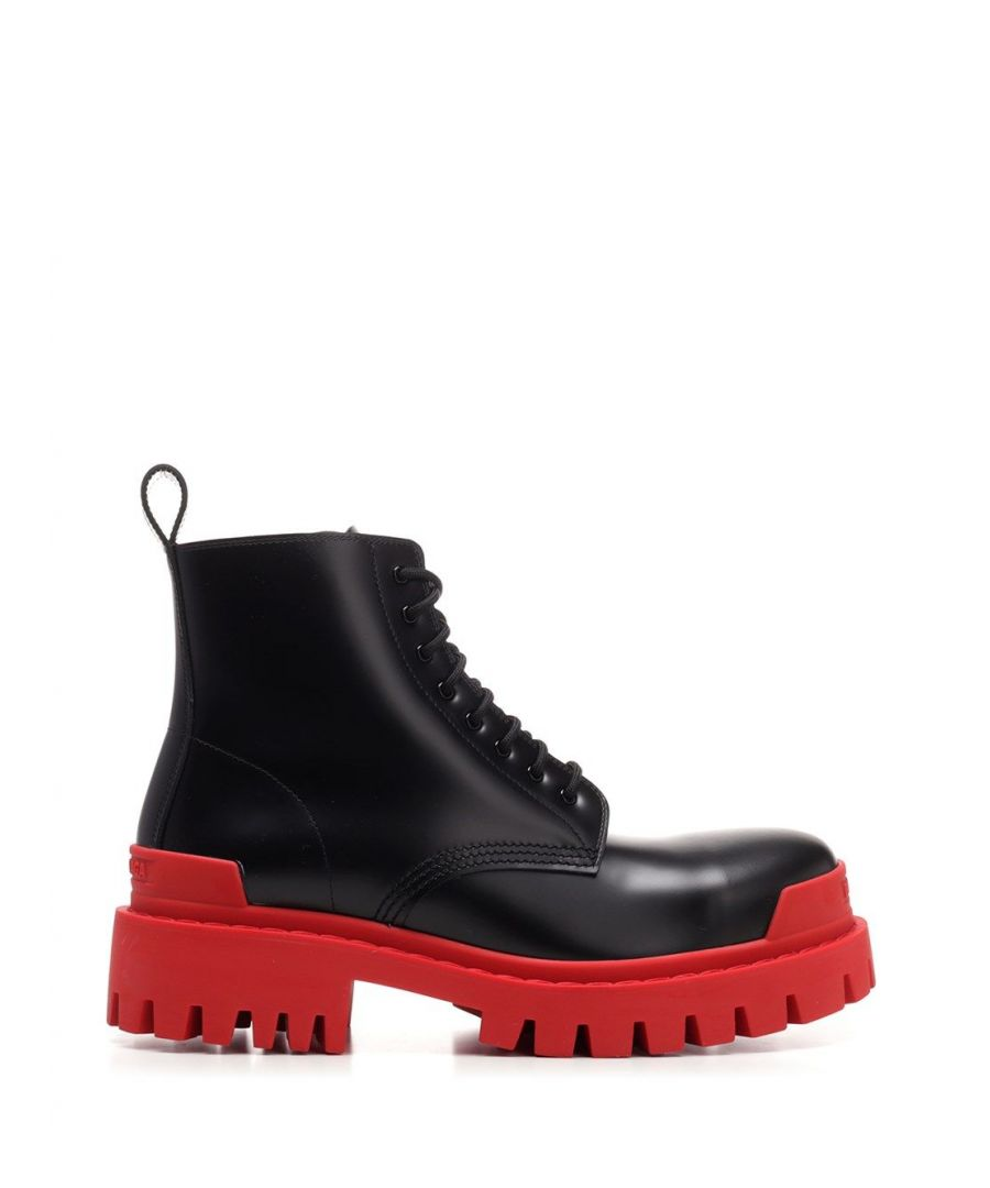 Image for BALENCIAGA MEN'S 589338WA9671066 BLACK LEATHER ANKLE BOOTS