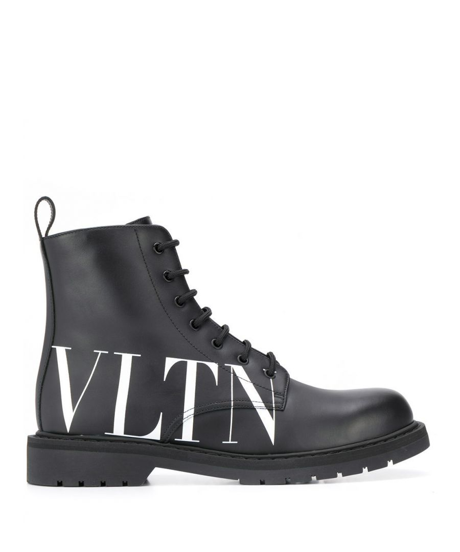 Image for VALENTINO MEN'S SY0S0C70DGQ0NI BLACK LEATHER ANKLE BOOTS