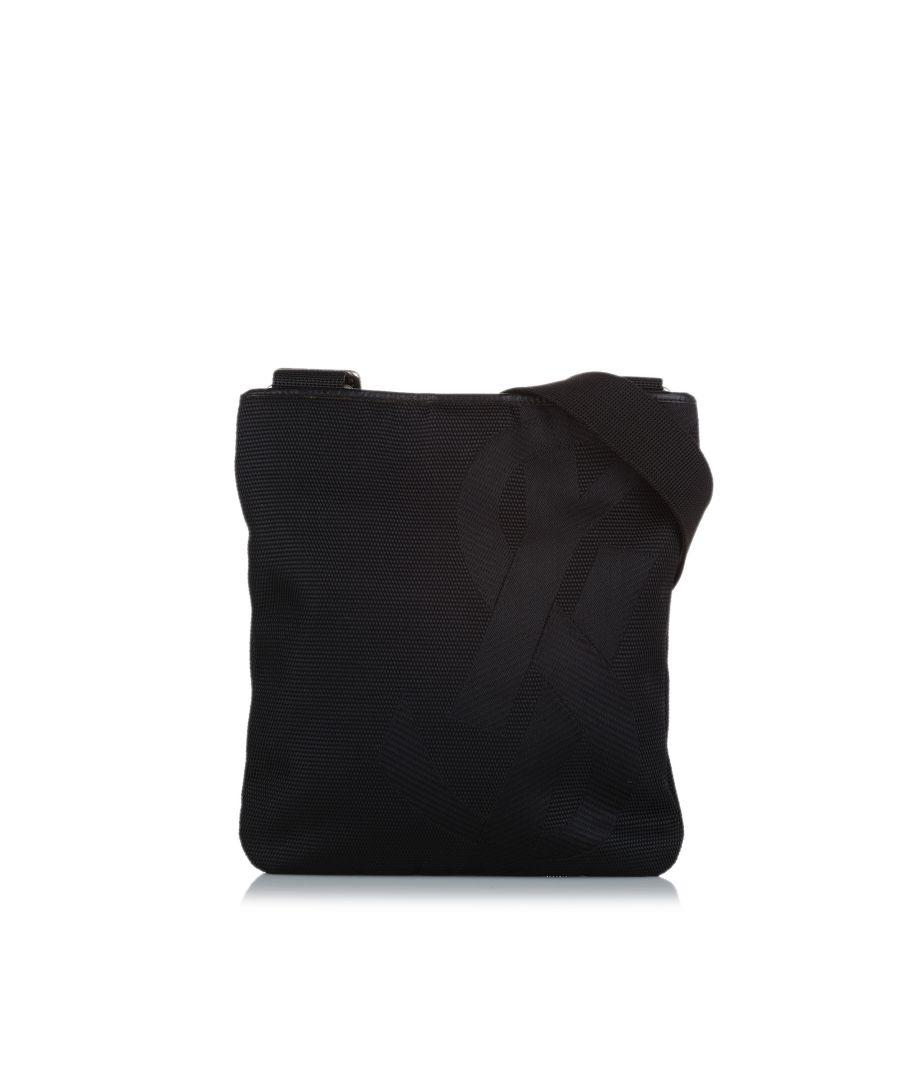 Image for Vintage YSL Canvas Crossbody Bag Black