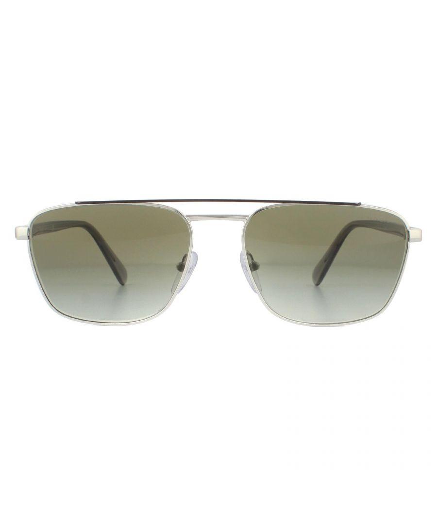 Image for Prada Sunglasses PR61US Y7B5O2 Brown Silver Green Gradient