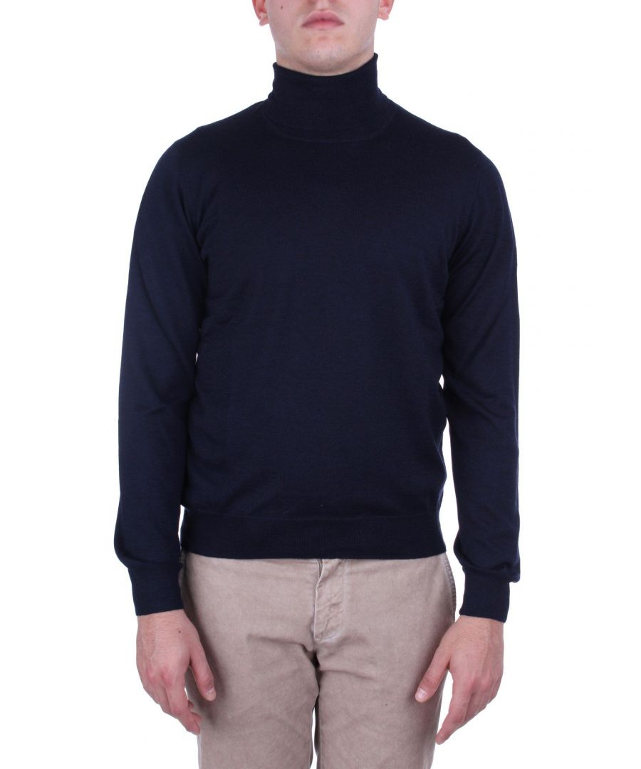 Image for TAGLIATORE MEN'S MIKE531GSI1919598 BLUE WOOL SWEATER