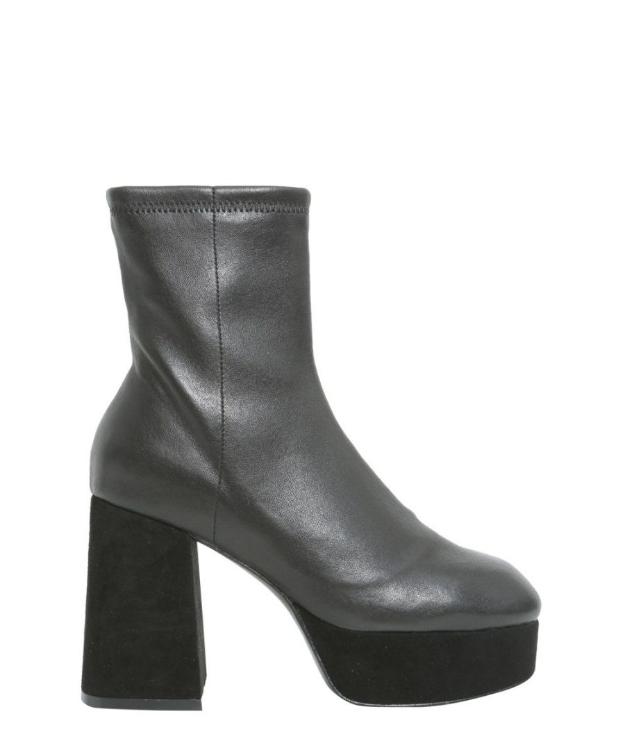 Image for OPENING CEREMONY WOMEN'S F17ZAB160540001 BLACK LEATHER ANKLE BOOTS