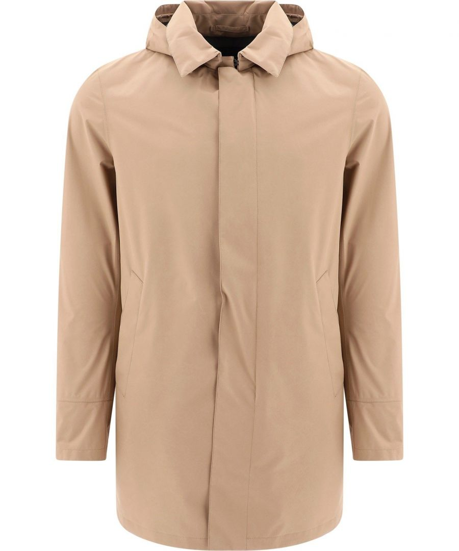 Image for HERNO MEN'S IM038UL111012150 BEIGE POLYESTER OUTERWEAR JACKET