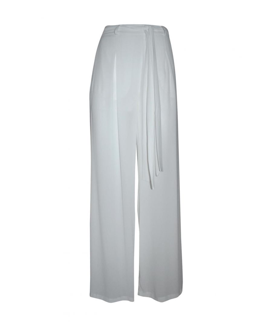 Image for TWENTY EASY BY KAOS WOMEN'S 42MR0110 WHITE POLYESTER PANTS