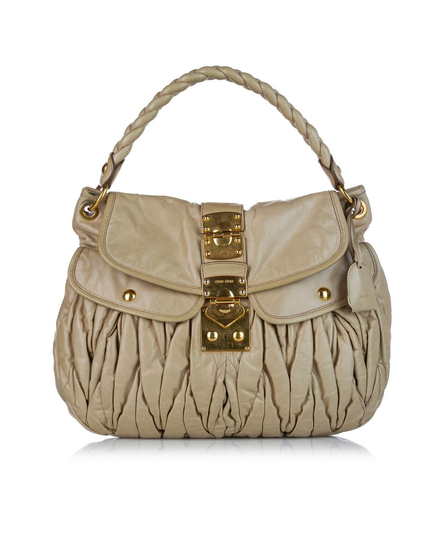 Image for Vintage Miu Miu Coffer Leather Satchel Brown