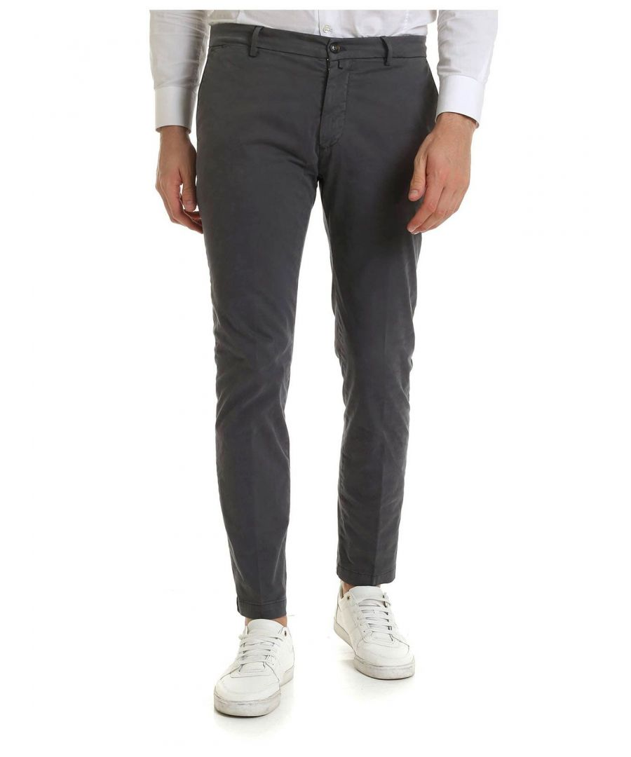 Image for BRIGLIA 1949 MEN'S BG04490970 GREY COTTON PANTS