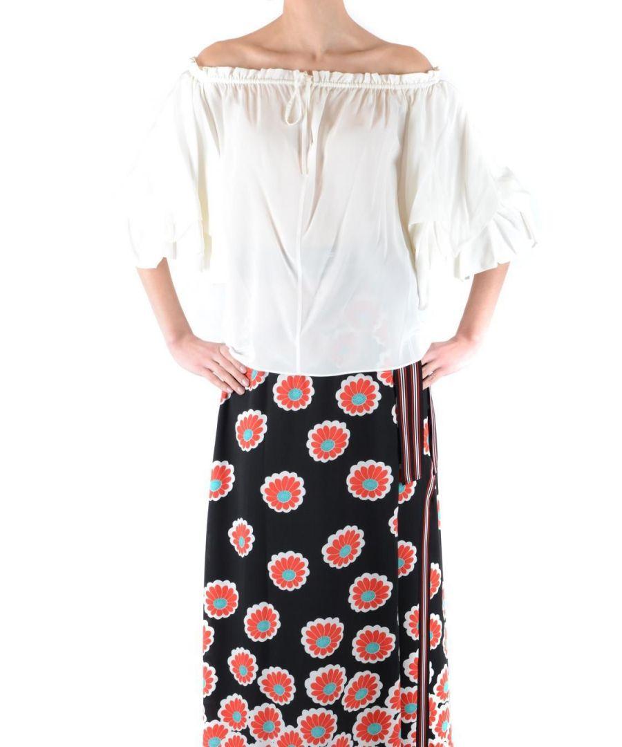 Image for DIANE VON FURSTENBERG WOMEN'S 12345DVF WHITE COTTON JUMPER