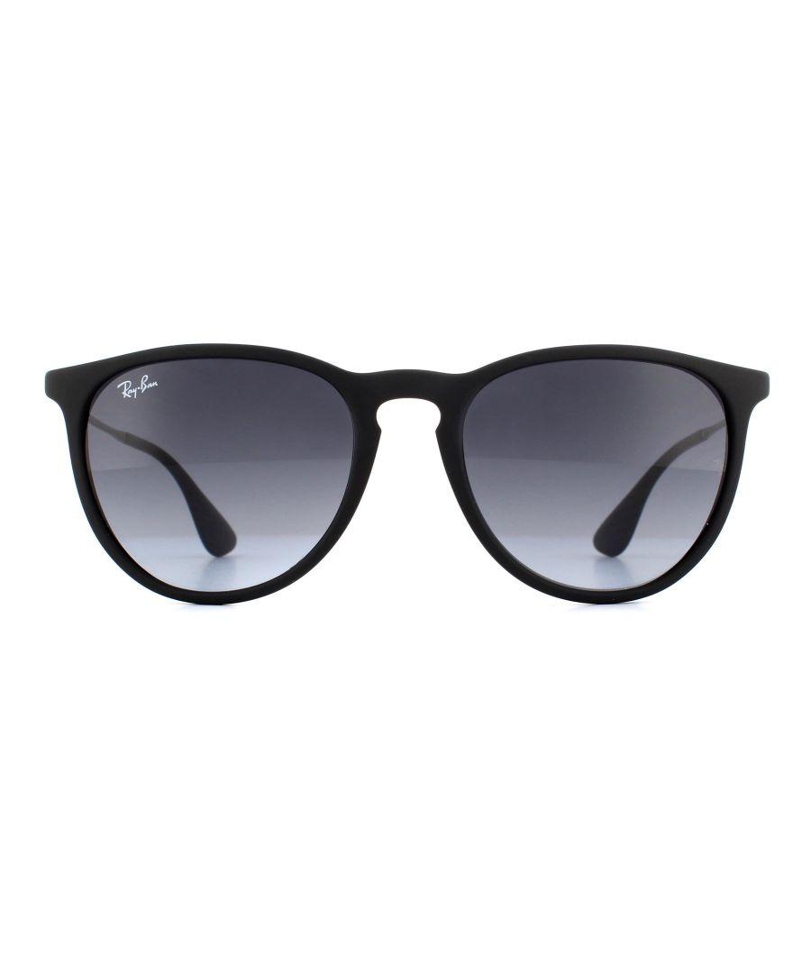Image for Ray-Ban Sunglasses Erika 4171 Rubberised Black Grey Gradient 622/8G