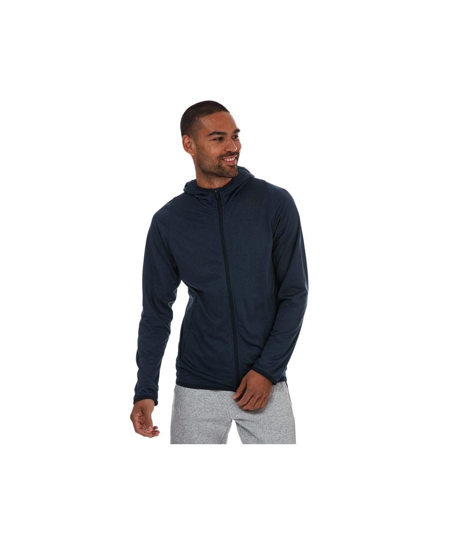 Image for Men's adidas Freelift Zip Hoodie in Navy