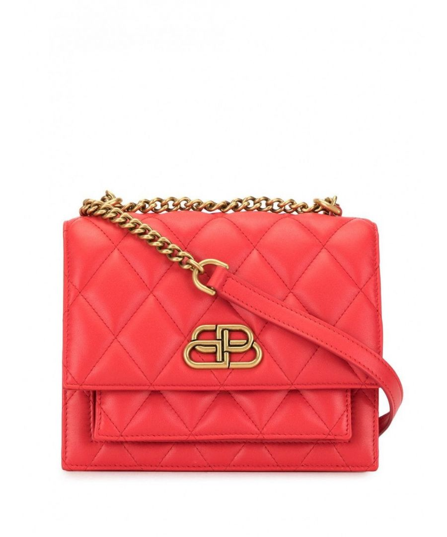 Image for BALENCIAGA WOMEN'S 5806411NH3M6406 RED LEATHER SHOULDER BAG