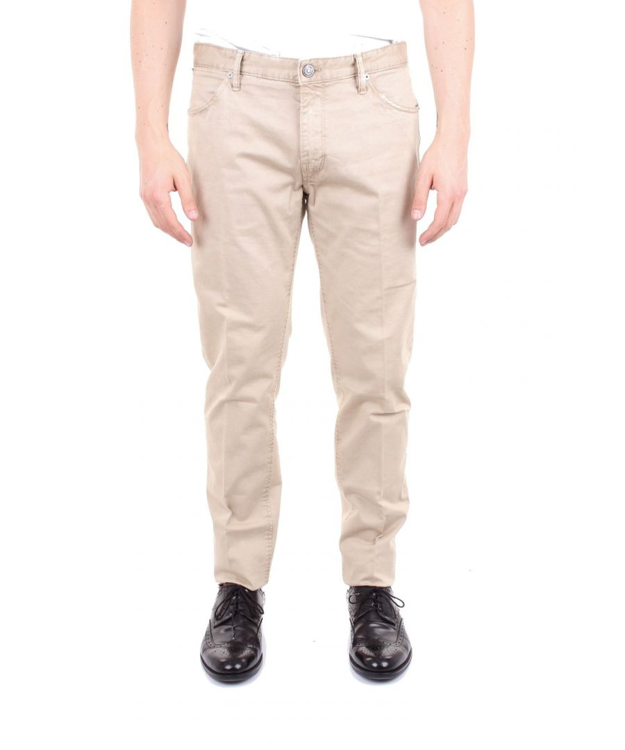 Image for PT01 MEN'S NT87DT05Z00ARABEIGE BEIGE COTTON PANTS