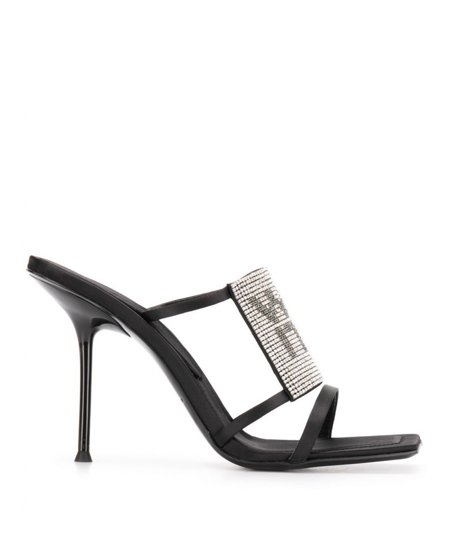 Image for ALEXANDER WANG WOMEN'S 30C120P093001 BLACK LEATHER SANDALS