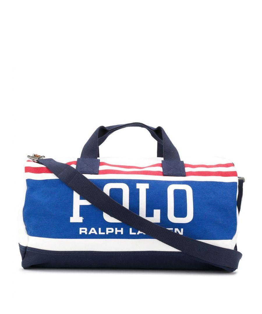 Image for RALPH LAUREN MEN'S 405777376001 WHITE COTTON TRAVEL BAG