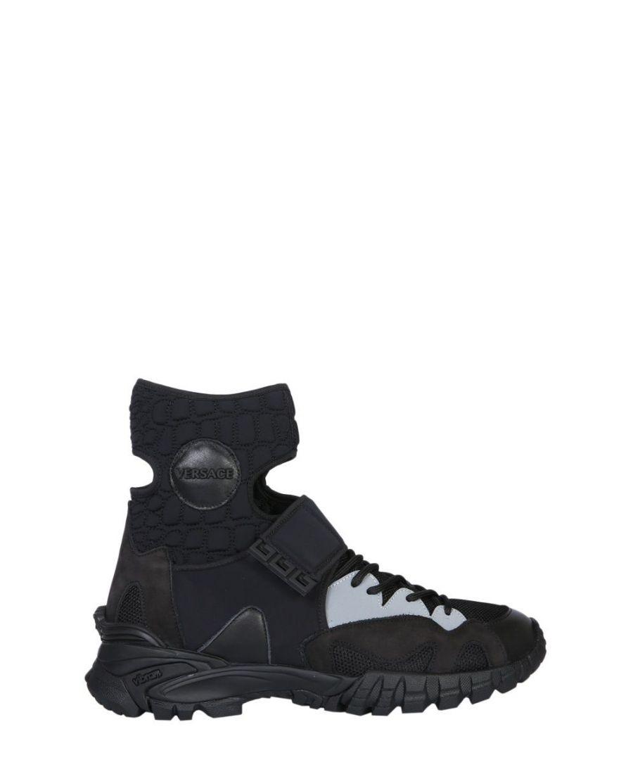Image for VERSACE MEN'S DSU6992DVSCTGD41 BLACK POLYESTER HI TOP SNEAKERS