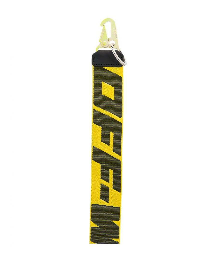 Image for OFF-WHITE MEN'S OMZG019S20F420416010 YELLOW POLYAMIDE KEY CHAIN