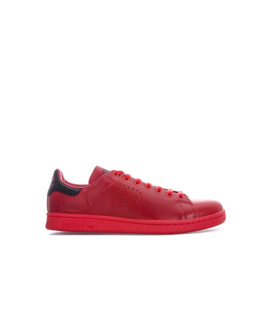 Image for Men's adidas Originals Raf Simons Stan Smith Trainers in red black