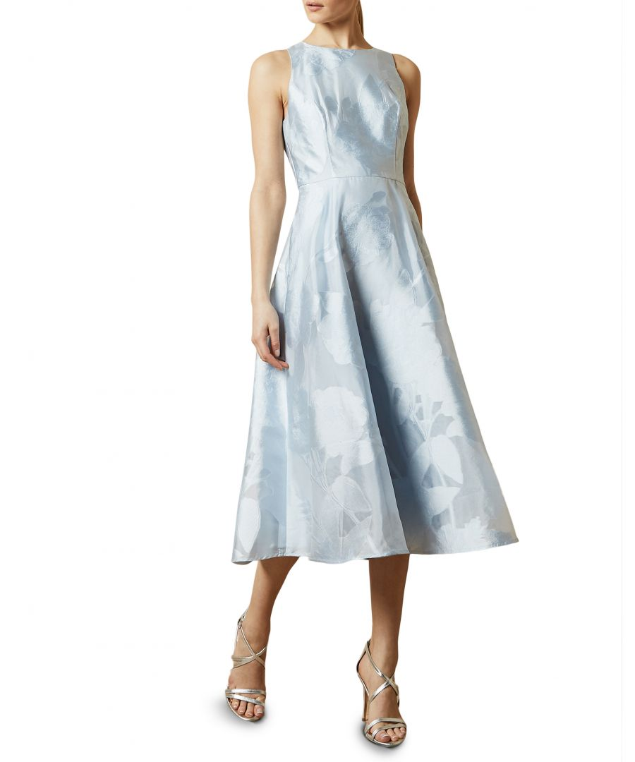 Image for Ted Baker Wylieh Sleeveless Floral Midi Dress, Light Blue