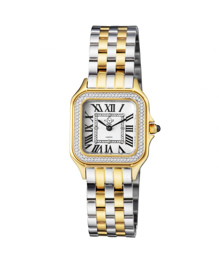 Image for GV2 Milan Women's Silver Dial IPYG and Stainless Steel Watch