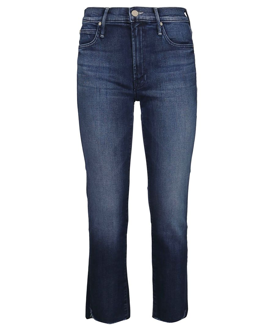 Image for MOTHER WOMEN'S 1716360 BLUE COTTON JEANS