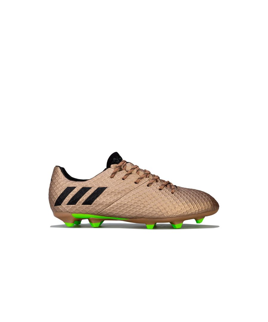Image for Boy's adidas Junior Messi 16.1 FG Football Boots in Gold