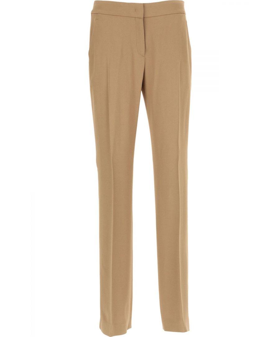 Image for N°21 WOMEN'S B11157982180 BEIGE ACETATE PANTS