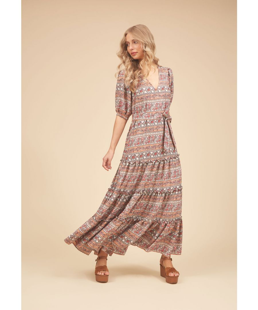 Image for Felicitations V-neck Maxi Dress in Peach