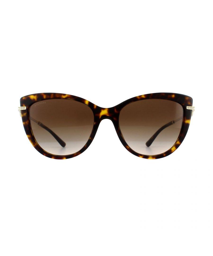 Image for Bvlgari Sunglasses BV8218B 504/13 Dark Havana Brown Gradient