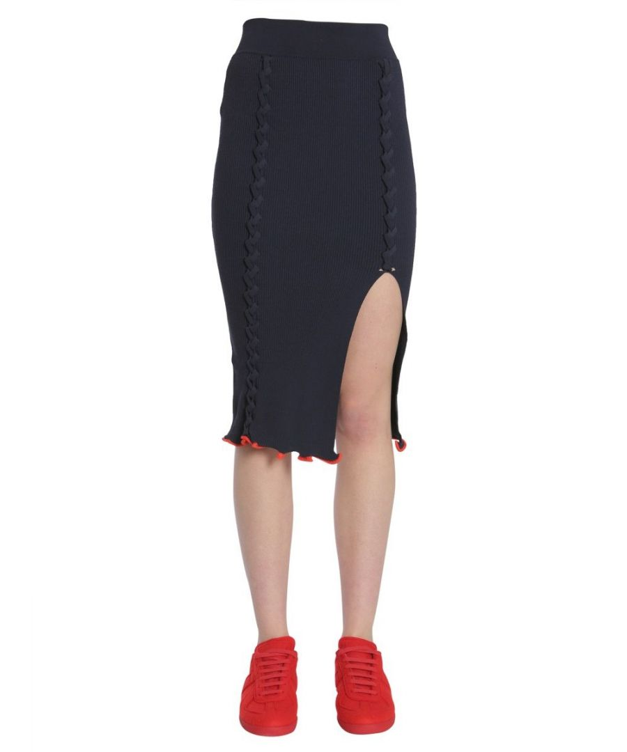 Image for OPENING CEREMONY WOMEN'S W17KBB140324102 BLUE VISCOSE SKIRT
