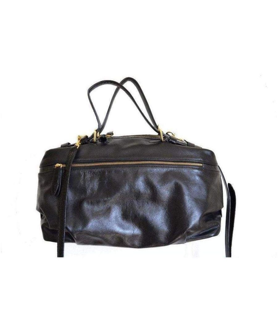 Image for Dries Van Noten Black Structured Leather Bag