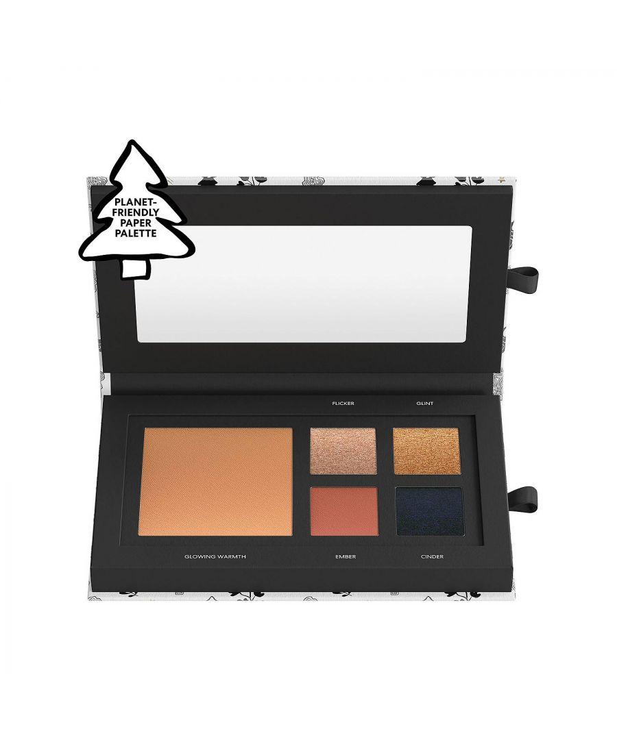 Image for bareMinerals Warmth Eye & Cheek Palette + 3-piece Brush Set & Bag Bundle