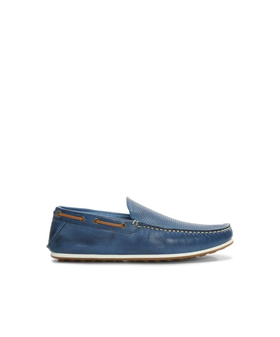 Image for Daniel Bargoed Perforated Leather Loafers
