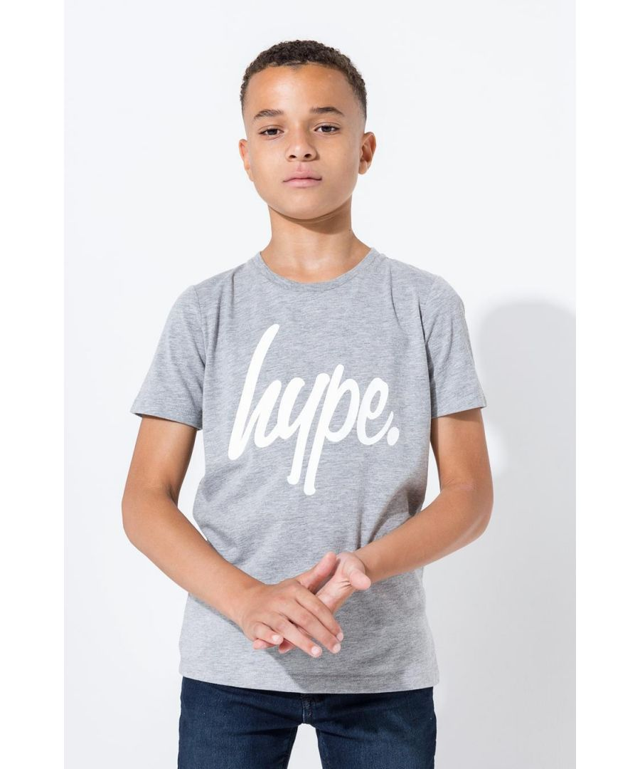 Image for Hype Grey Script Kids T-Shirt