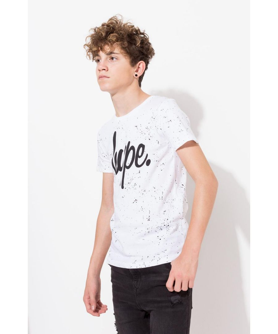 Image for Hype White Aop Speckle Kids T-Shirt