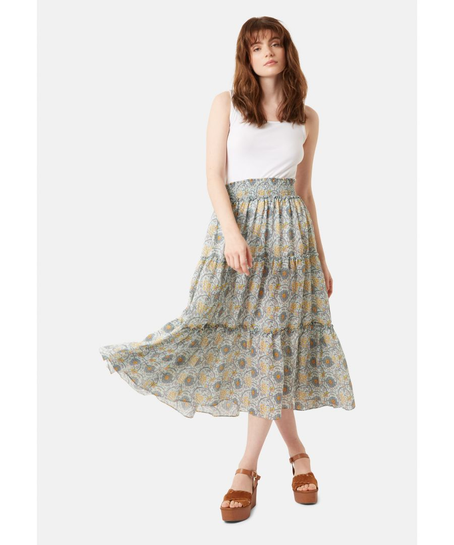 Image for Bells On Her Toes Boho Maxi Skirt in Green