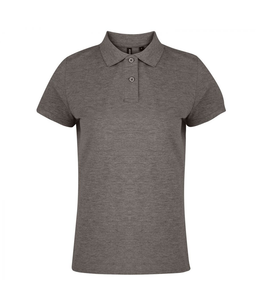 Image for Asquith & Fox Womens/Ladies Plain Short Sleeve Polo Shirt (Charcoal)