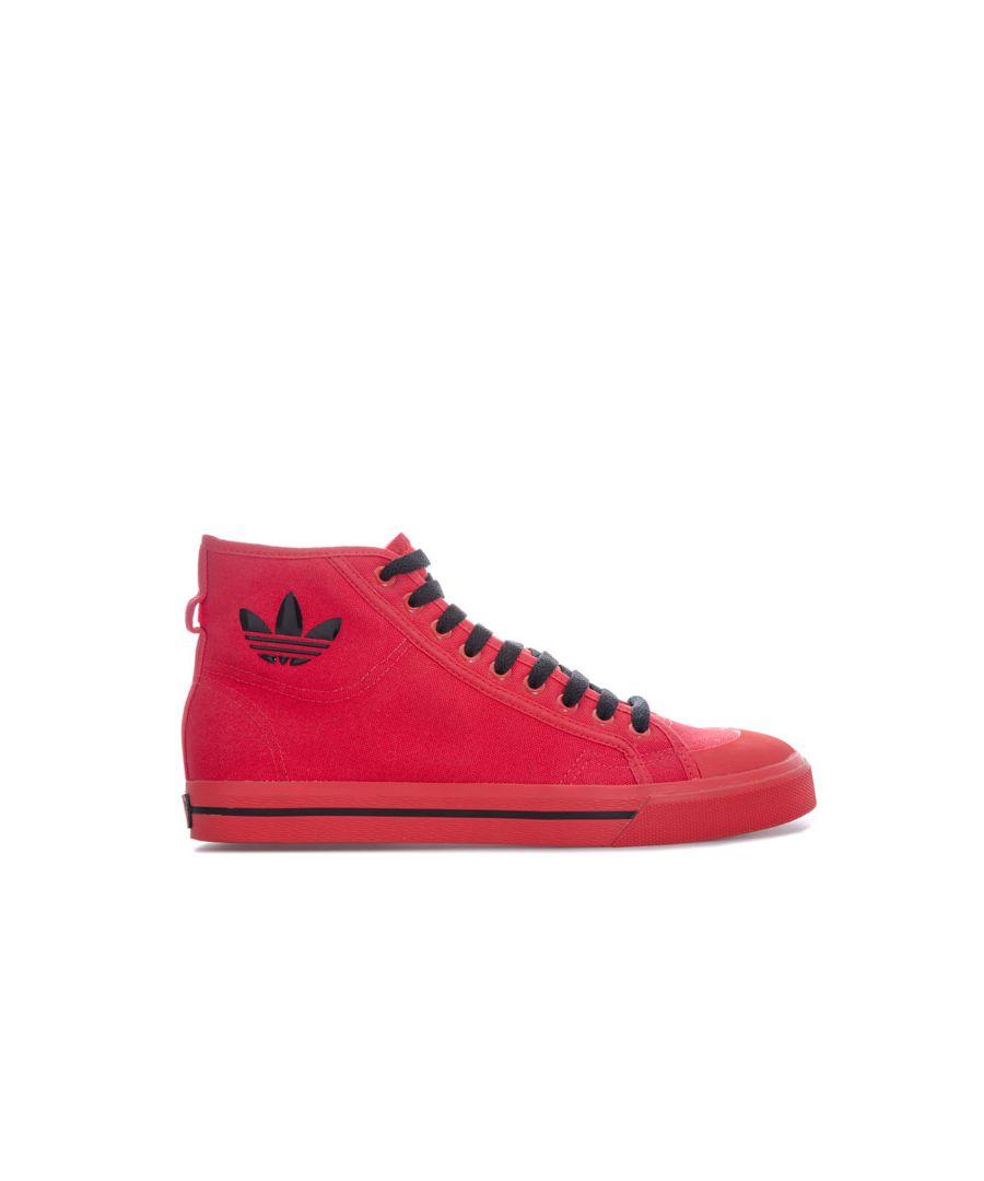 Image for Men's adidas Originals Raf Simons Matrix Spirit High Trainers in Red
