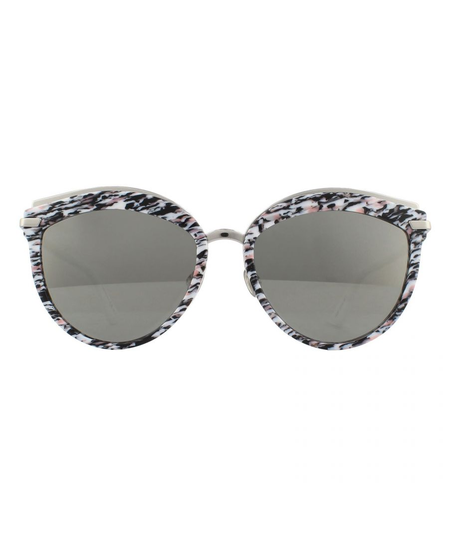 Image for Dior Sunglasses Offset 2 W6Q 0T White Pink Green Red Grey Silver Mirror