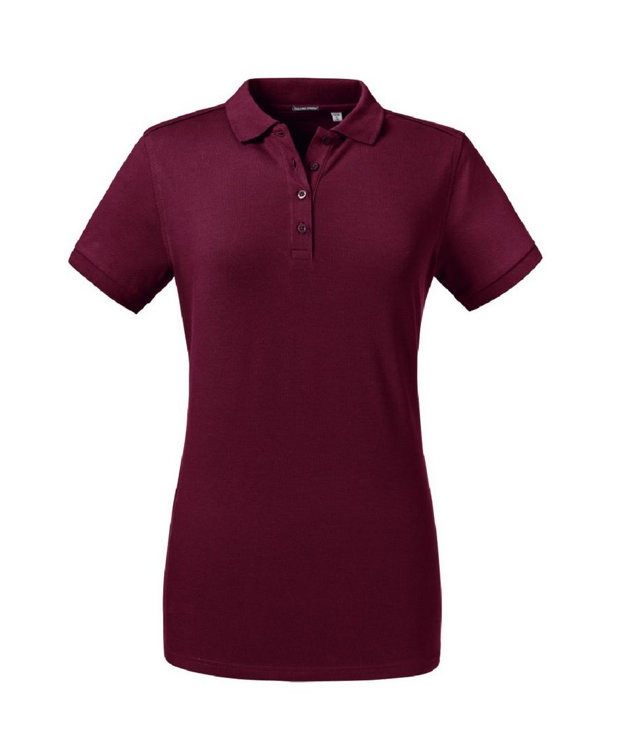 Image for Russell Women's Tailored Stretch Polo (Burgundy)