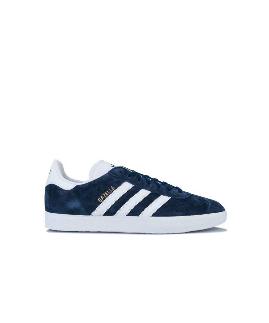 Image for Men's adidas Originals Gazelle Trainers in Navy