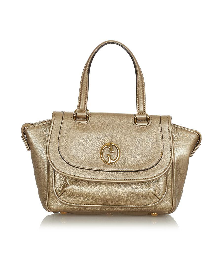 Image for Vintage Gucci 1973 Leather Handbag Gold