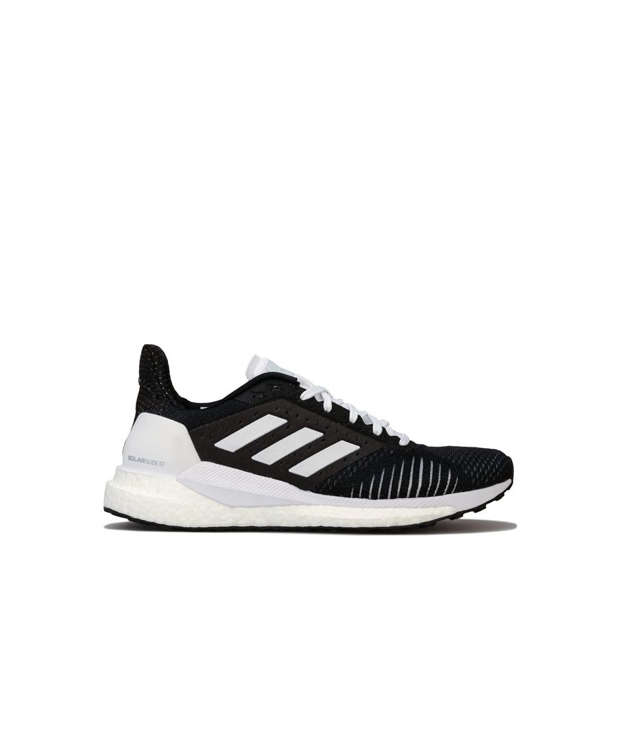Image for Women's adidas Solar Glide ST Running Shoes in Black-White