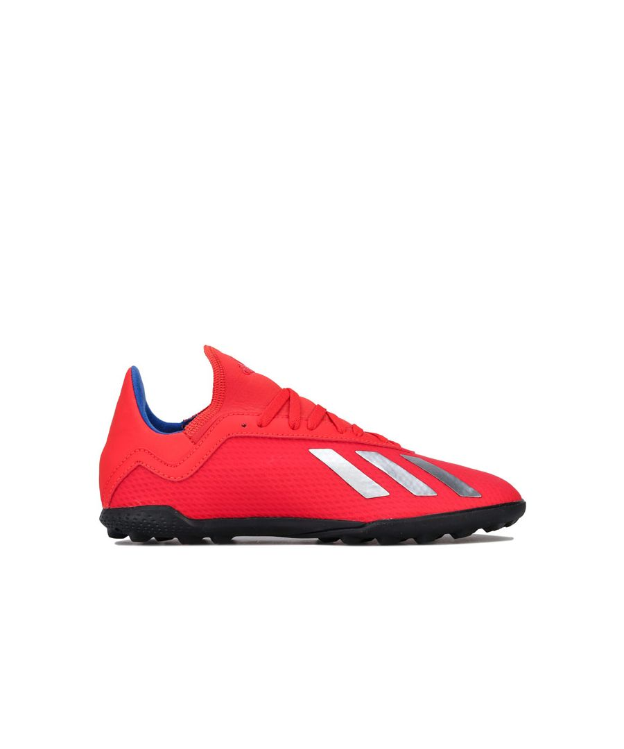 Image for Boy's adidas Junior X 18.3 Astro Turf Trainers in Red