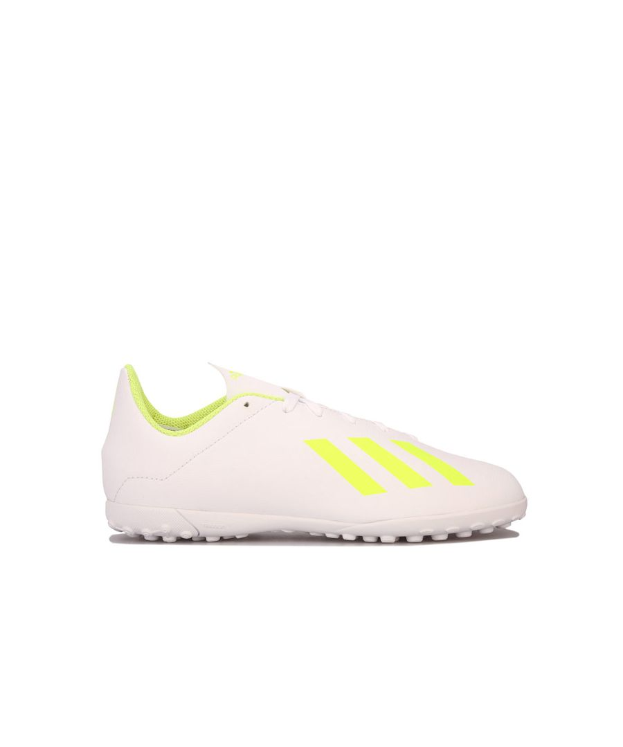 Image for Boy's adidas Junior X 18.4 Astro Turf Trainers in White
