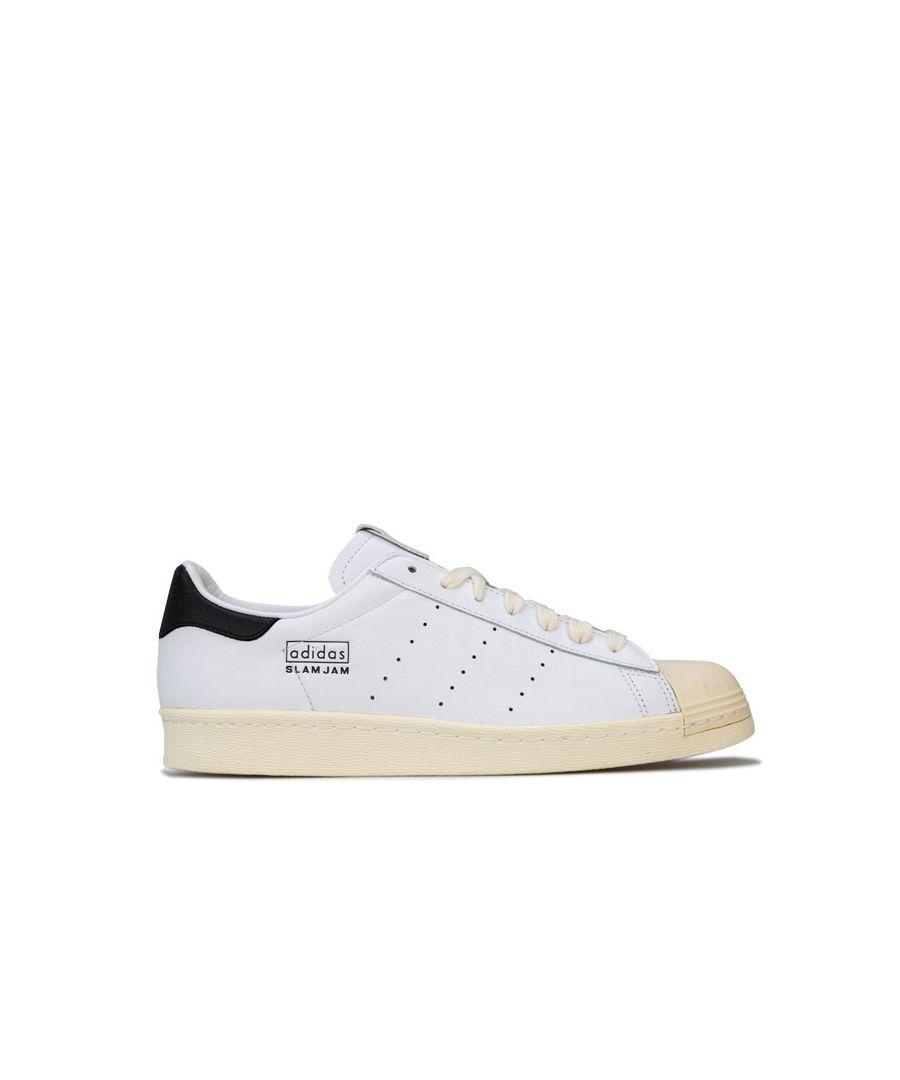 Image for Men's adidas Originals Superstar 80s Slam Jam Trainers in White