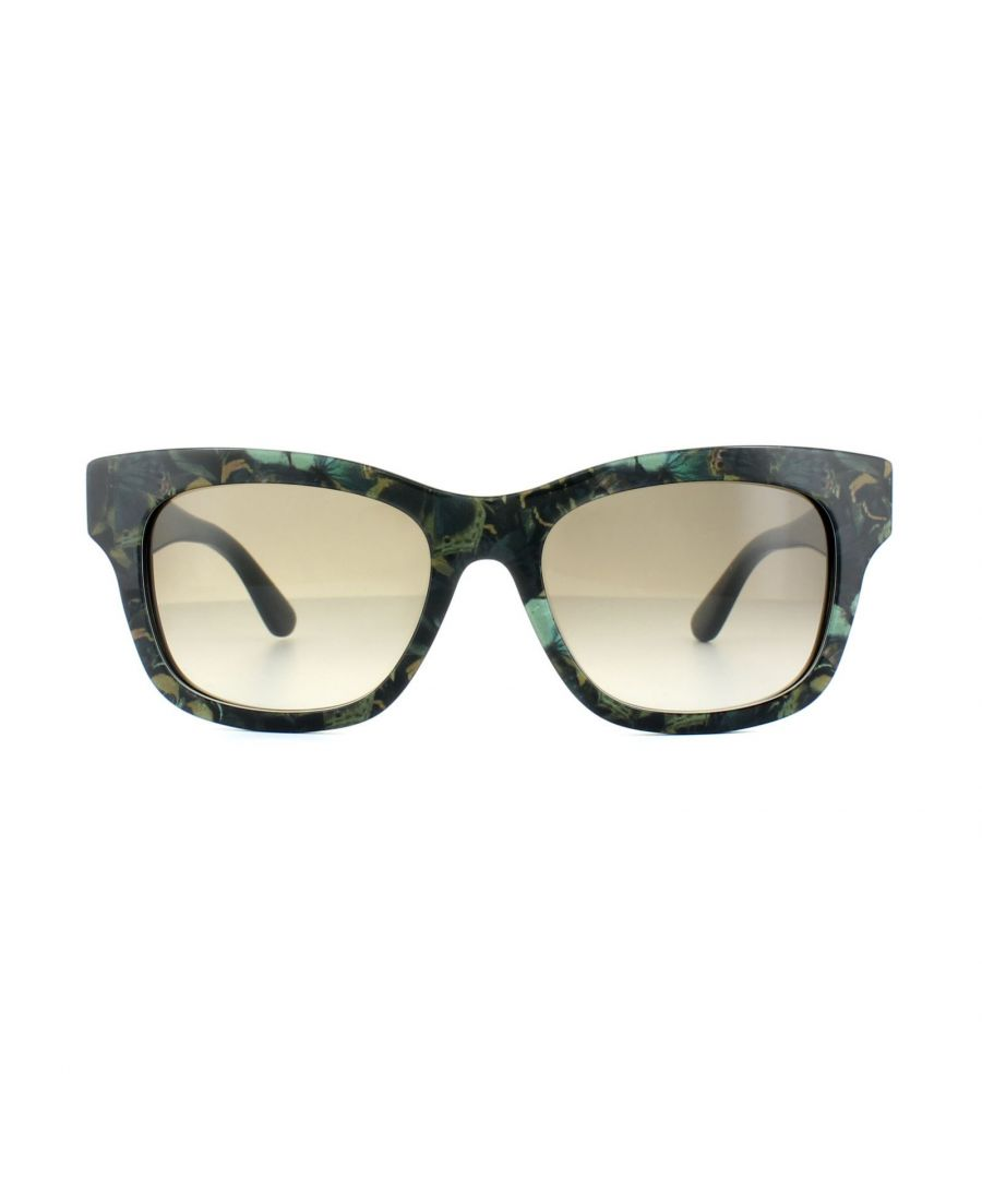 Image for Valentino Sunglasses V720SB 962 Camouflage Butterfly Army Green Grey Gradient