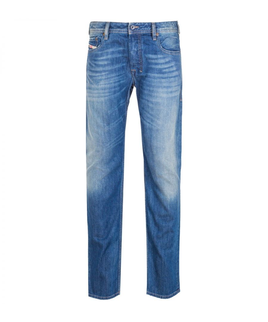 Image for Diesel Zatiny Pantaloni Bootcut Regular Fit Medium Blue Rinse Denim Jeans