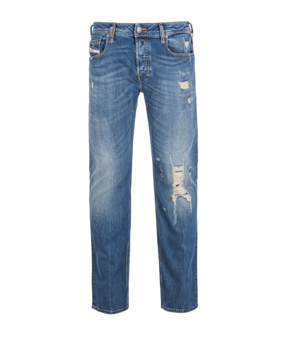 Image for Diesel Zatiny Pantaloni Bootcut Regular Fit Blue Rinse Denim Jeans